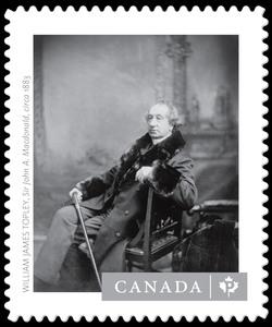 """Sir John A. Macdonald"" - William James Topley Canada Postage Stamp | Canadian Photography"