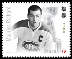 Maurice (Rocket) Richard Canada Postage Stamp | Canadian Hockey Legends