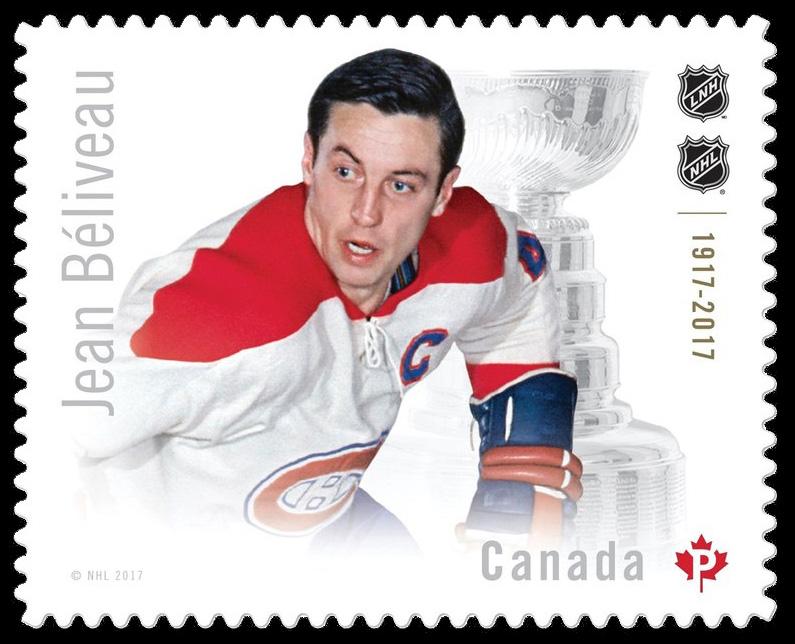 Jean Beliveau Canada Postage Stamp | Canadian Hockey Legends