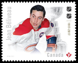 Jean Beliveau Canada Postage Stamp | Canadian Hockey Legends