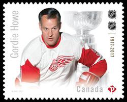 Gordie Howe Canada Postage Stamp | Canadian Hockey Legends