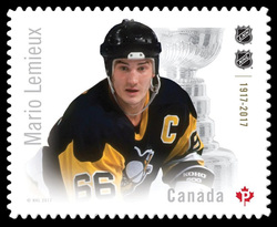 Mario Lemieux Canada Postage Stamp | Canadian Hockey Legends