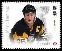 Mario Lemieux Canada Postage Stamp | Canadian Hockey Legends