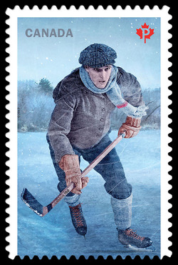 History of Hockey - Vintage Era Canada Postage Stamp | History of Hockey