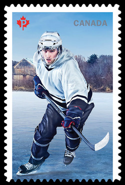 History of Hockey - Modern Era Canada Postage Stamp | History of Hockey