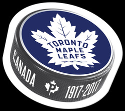 Toronto Maple Leafs 100th Anniversary - Puck Stamp Canada Postage Stamp | Toronto Maple Leafs 100th Anniversary