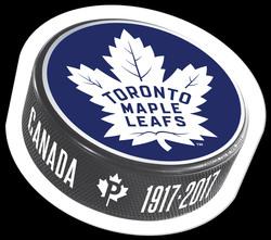 Toronto Maple Leafs 100th Anniversary - Puck Stamp Canada Postage Stamp | Toronto Maple Leafs 100th Anniversary
