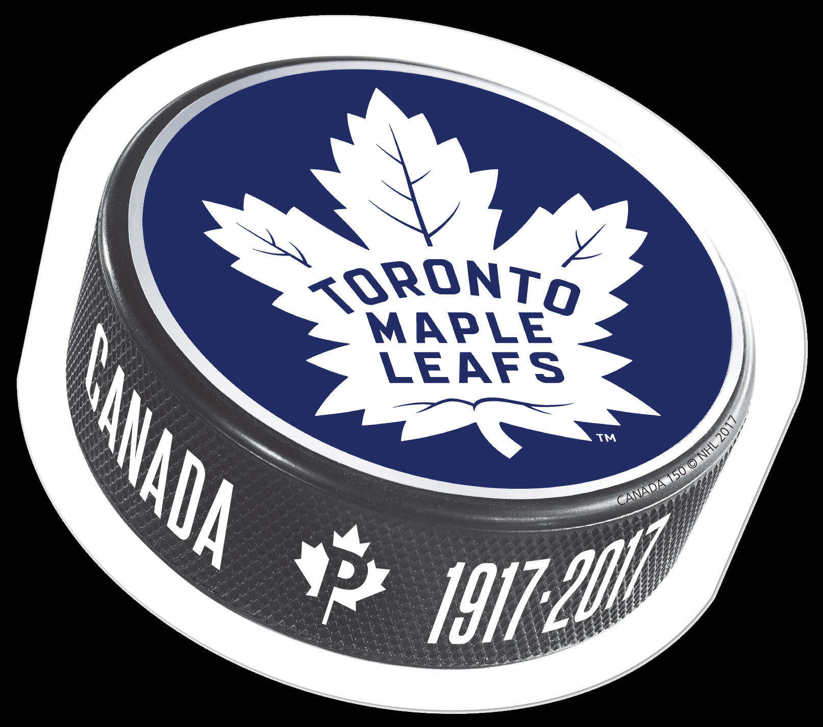 Toronto Maple Leafs 100th Anniversary - Puck Stamp Canada Postage Stamp