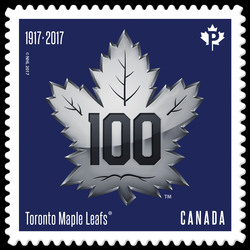 Toronto Maple Leafs 100th Anniversary - Logo Canada Postage Stamp | Toronto Maple Leafs 100th Anniversary