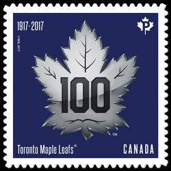 Toronto Maple Leafs 100th Anniversary - Logo Canada Postage Stamp | Toronto Maple Leafs 100th Anniversary