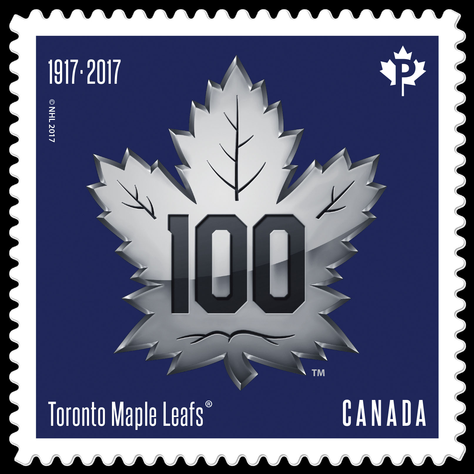 Toronto Maple Leafs 100th Anniversary - Logo Canada Postage Stamp