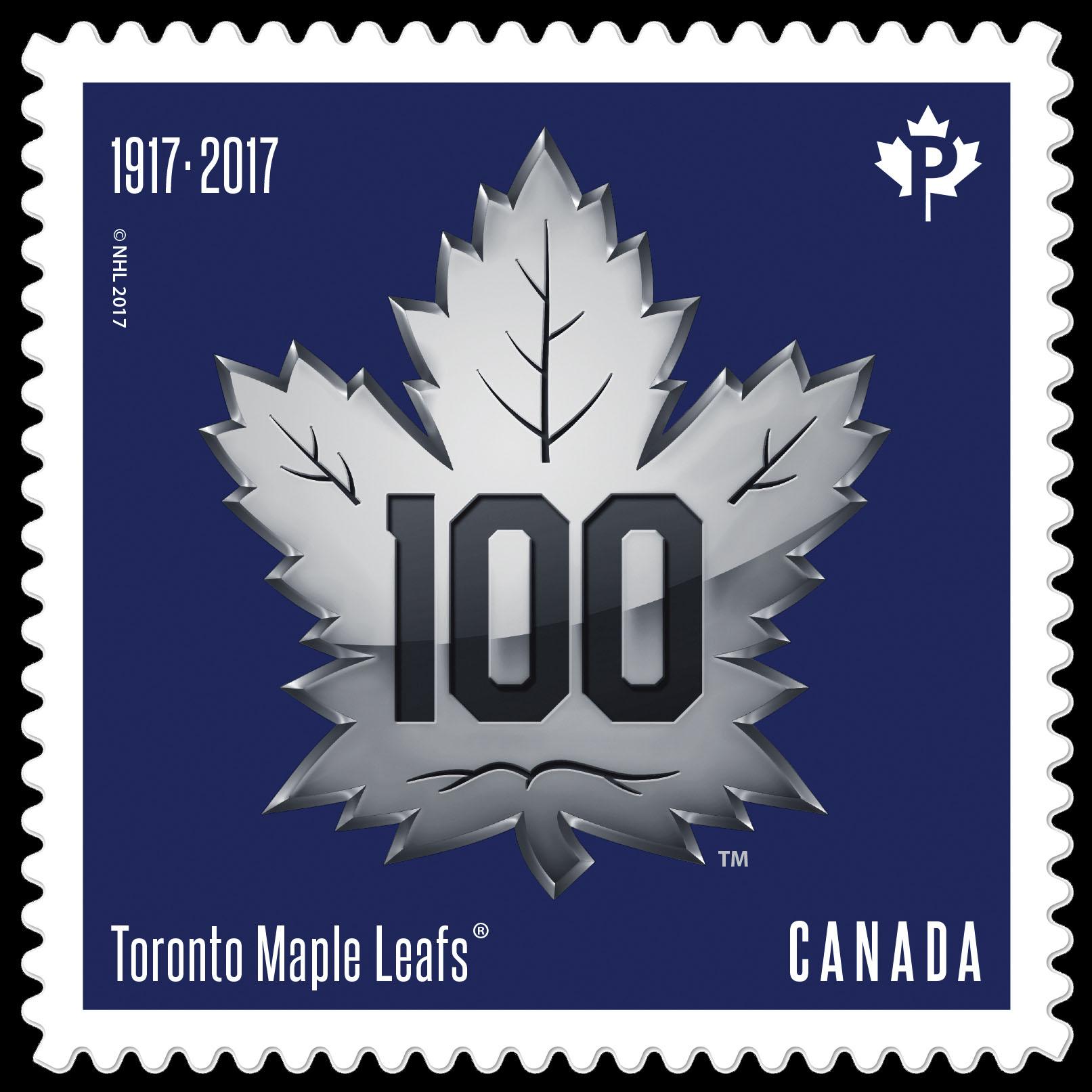 Toronto Maple Leafs 100th Anniversary - Logo Canada Postage Stamp   Toronto Maple Leafs 100th Anniversary