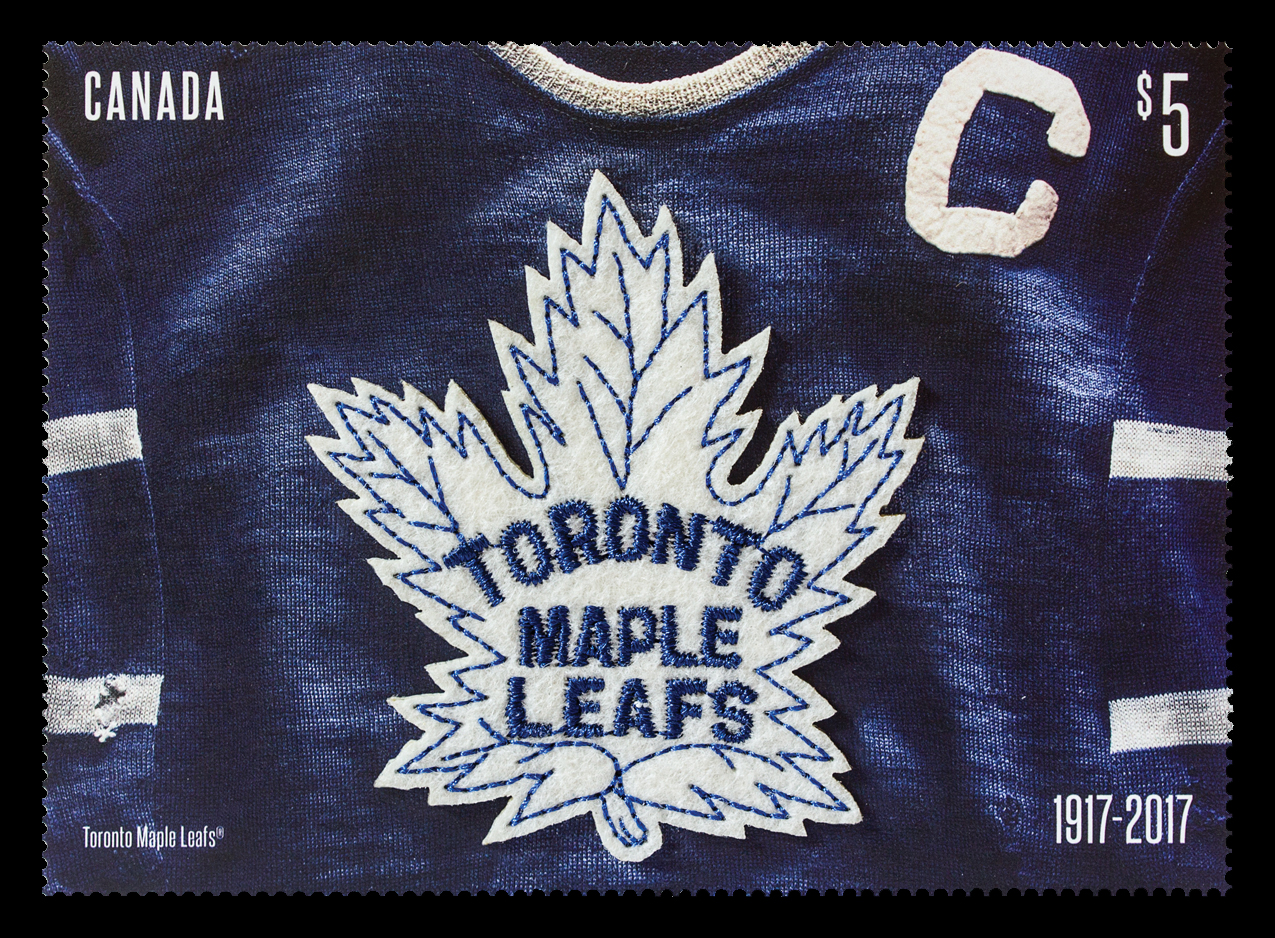 Toronto Maple Leafs 100th Anniversary - Jersey Canada Postage Stamp | Toronto Maple Leafs 100th Anniversary