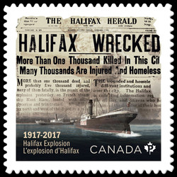 Halifax Explosion Canada Postage Stamp