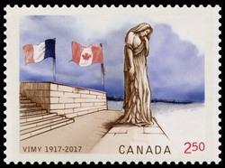 Vimy Ridge - 100 Years Ago Canada Postage Stamp | Vimy Ridge - 100 Years Ago