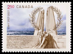 Vimy Ridge - 100 Years Ago Canada Postage Stamp | Vimy Ridge - 100 Years Ago