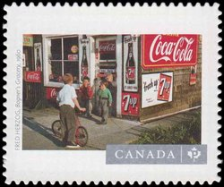 """Fred Herzog's """"Bogner's Grocery"""" (1960) Canada Postage Stamp 