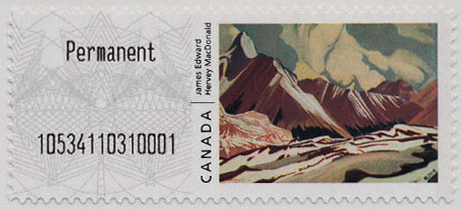 The Front of Winter - James Edward Harvey MacDonald | Kiosk Canada Postage Stamp