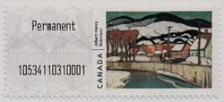 Winter, Baie-Saint-Paul - Albert Henry Robinson | Kiosk Canada Postage Stamp | Kiosk Stamps