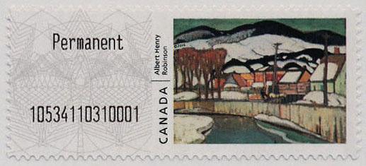 Winter, Baie-Saint-Paul - Albert Henry Robinson | Kiosk Canada Postage Stamp