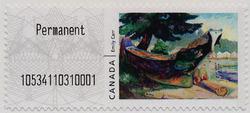 Indian War Canoe (Alert Bay) - Emily Carr | Kiosk Canada Postage Stamp | Kiosk Stamps