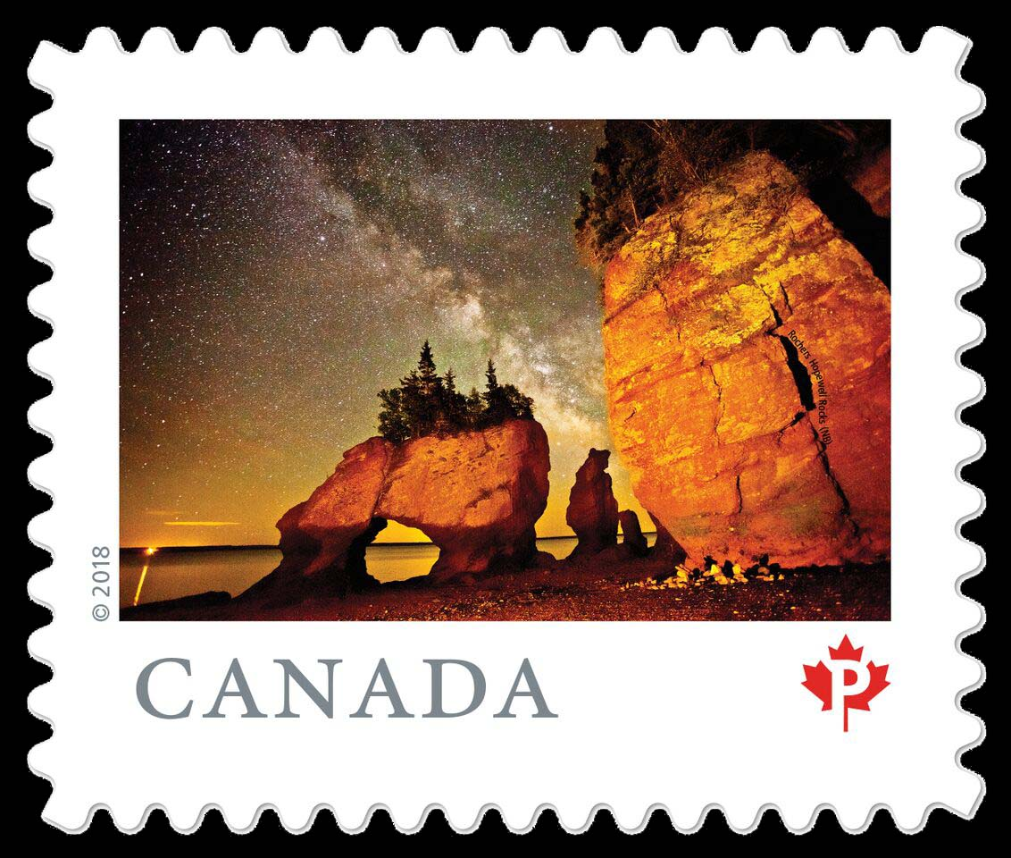 Hopewell Rocks (NB) Canada Postage Stamp