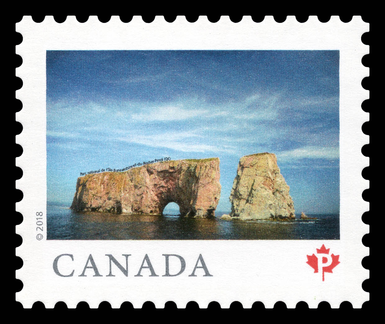 Parc national de l'lle-Bonaventure-et-du-Rocher-Perce (QC) Canada Postage Stamp   From Far and Wide