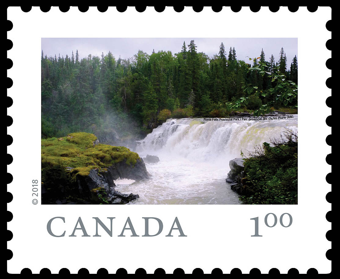 Pisew Falls Provincial Park (MB) Canada Postage Stamp | From Far and Wide