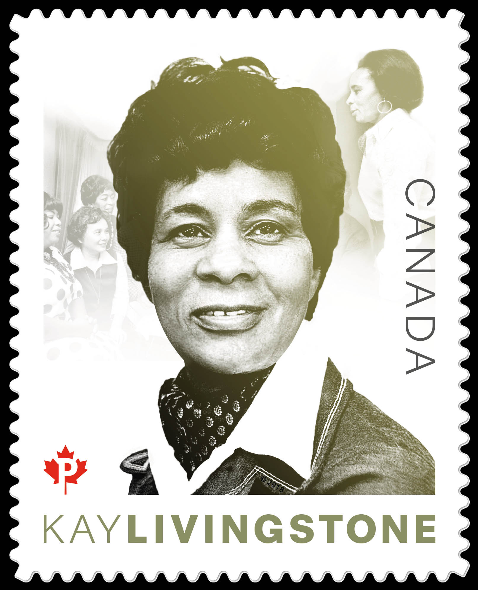Kathleen (Kay) Livingstone Canada Postage Stamp