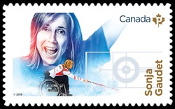 Sonja Gaudet Canada Postage Stamp | Canadian Women in Winter Sports