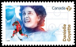 Danielle Goyette Canada Postage Stamp | Canadian Women in Winter Sports