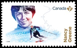 Nancy Greene Canada Postage Stamp | Canadian Women in Winter Sports