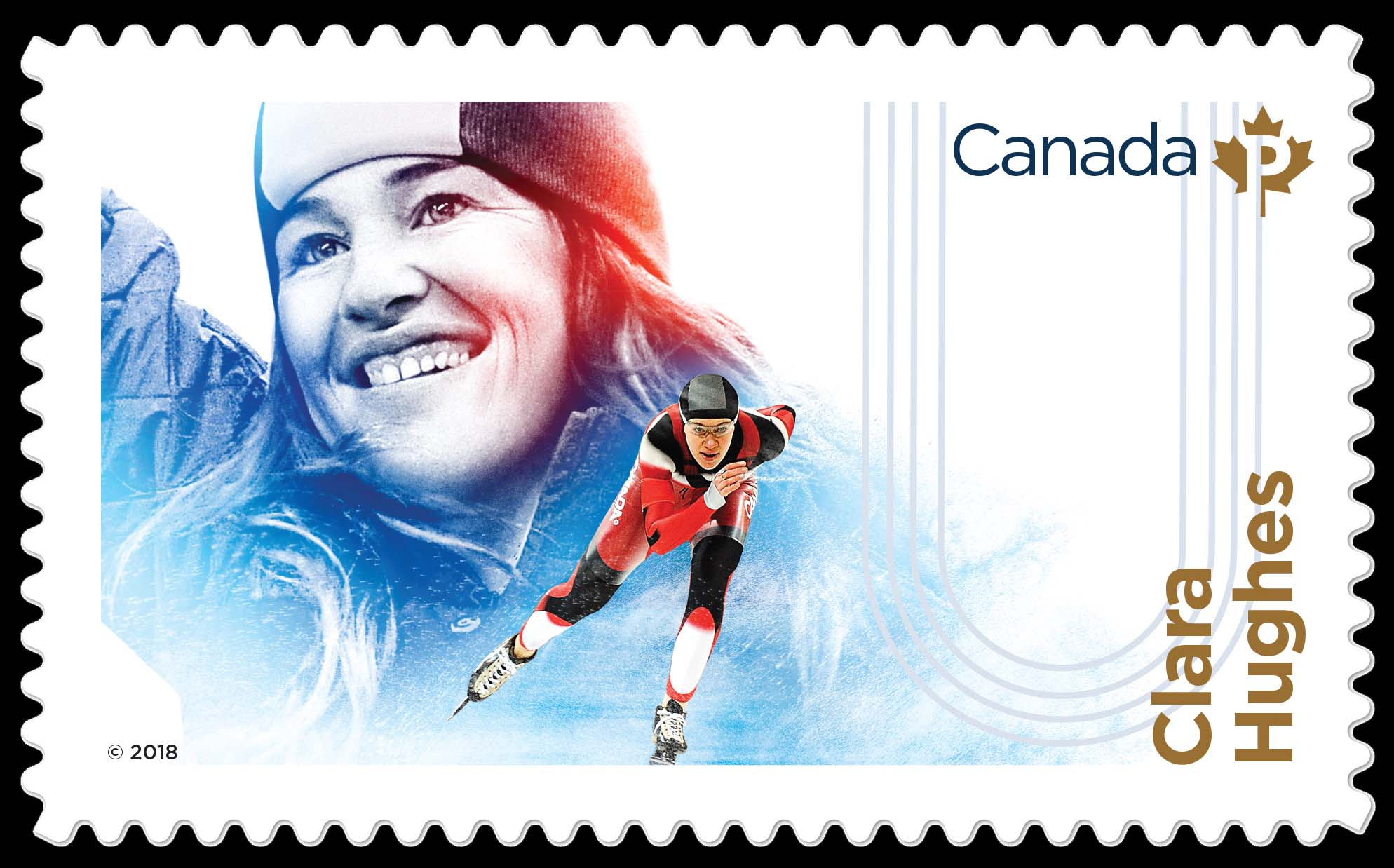 Clara Hughes Canada Postage Stamp | Canadian Women in Winter Sports