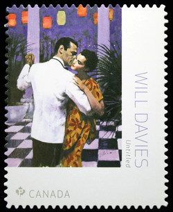 Harlequin Book Cover - Will Davies Canada Postage Stamp | Great Canadian Illustrators