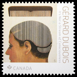 It's Not a Stream of Consciousness - Gerard DuBois Canada Postage Stamp | Great Canadian Illustrators