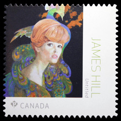 Hair Fashion in 1966 Redbook - James Hill Canada Postage Stamp | Great Canadian Illustrators