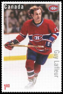 Guy Lafleur Canada Postage Stamp | Great Canadian NHL Hockey Forwards