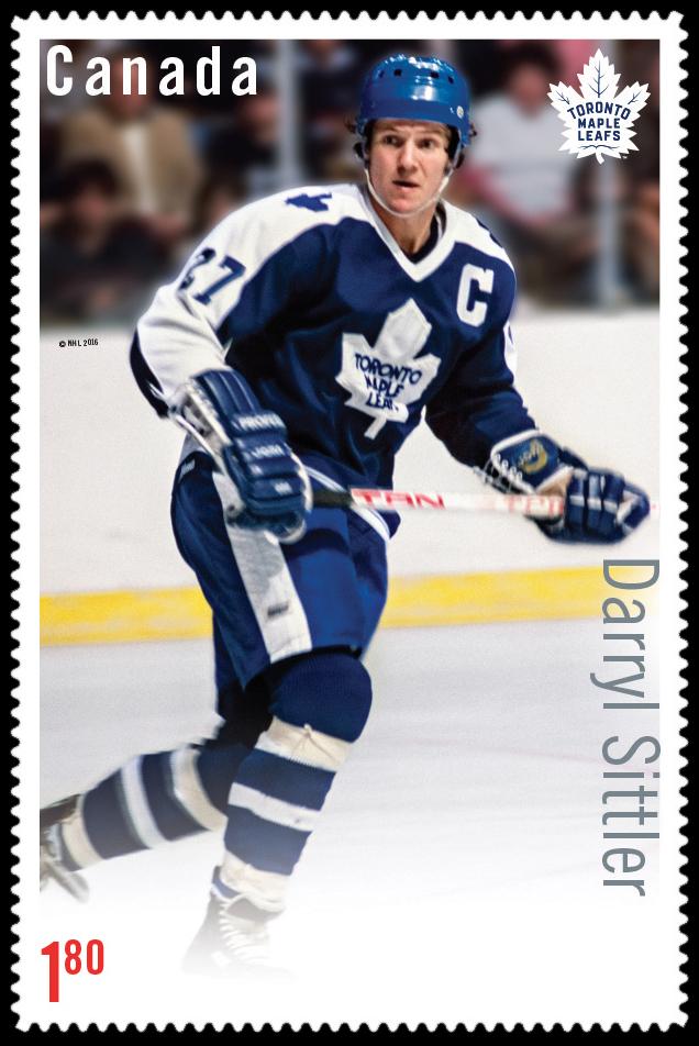 Darryl Sittler Canada Postage Stamp | Great Canadian NHL Hockey Forwards