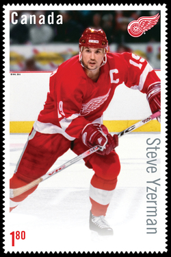 Steve Yzerman Canada Postage Stamp | Great Canadian NHL Hockey Forwards
