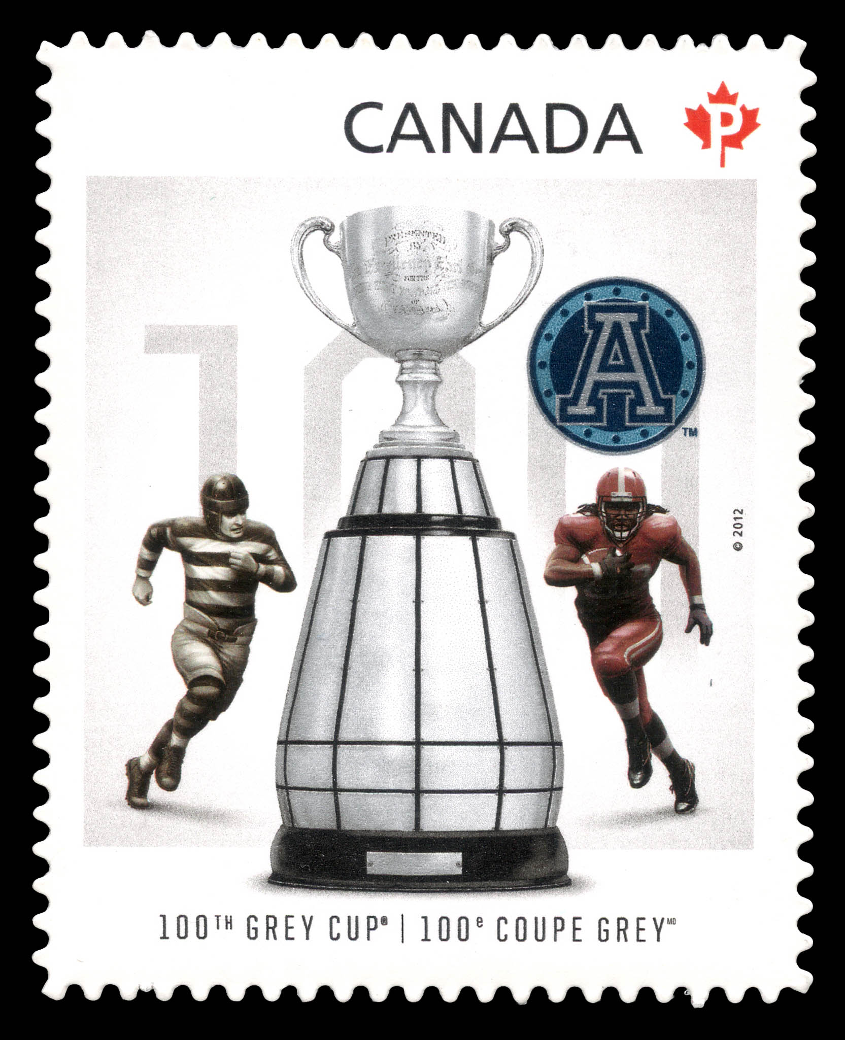 Toronto Argonauts - Winners of the 100th Grey Cup Game Canada Postage Stamp | 100th Grey Cup Game