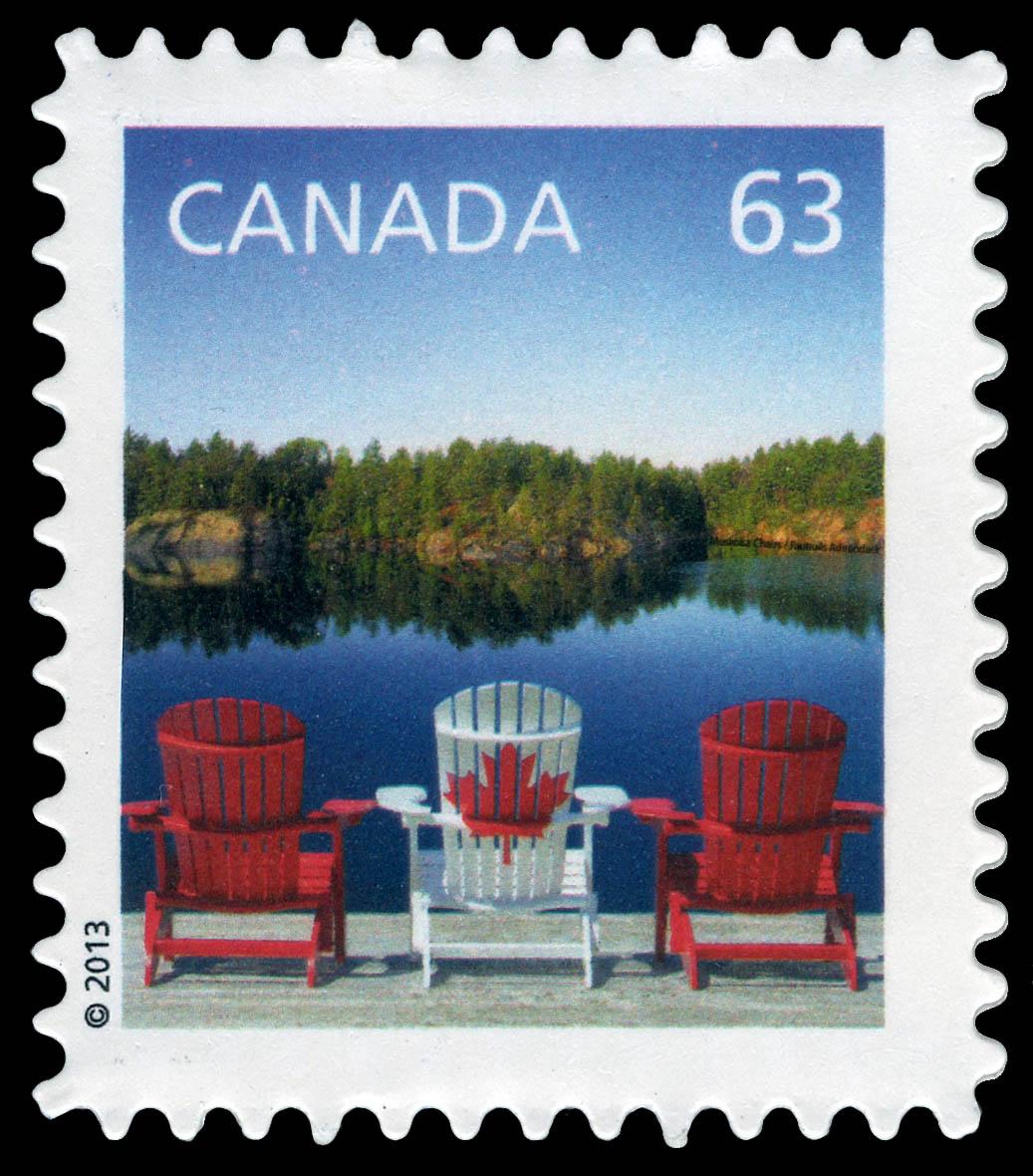 Muskoka Chairs Flag Design Canada Postage Stamp