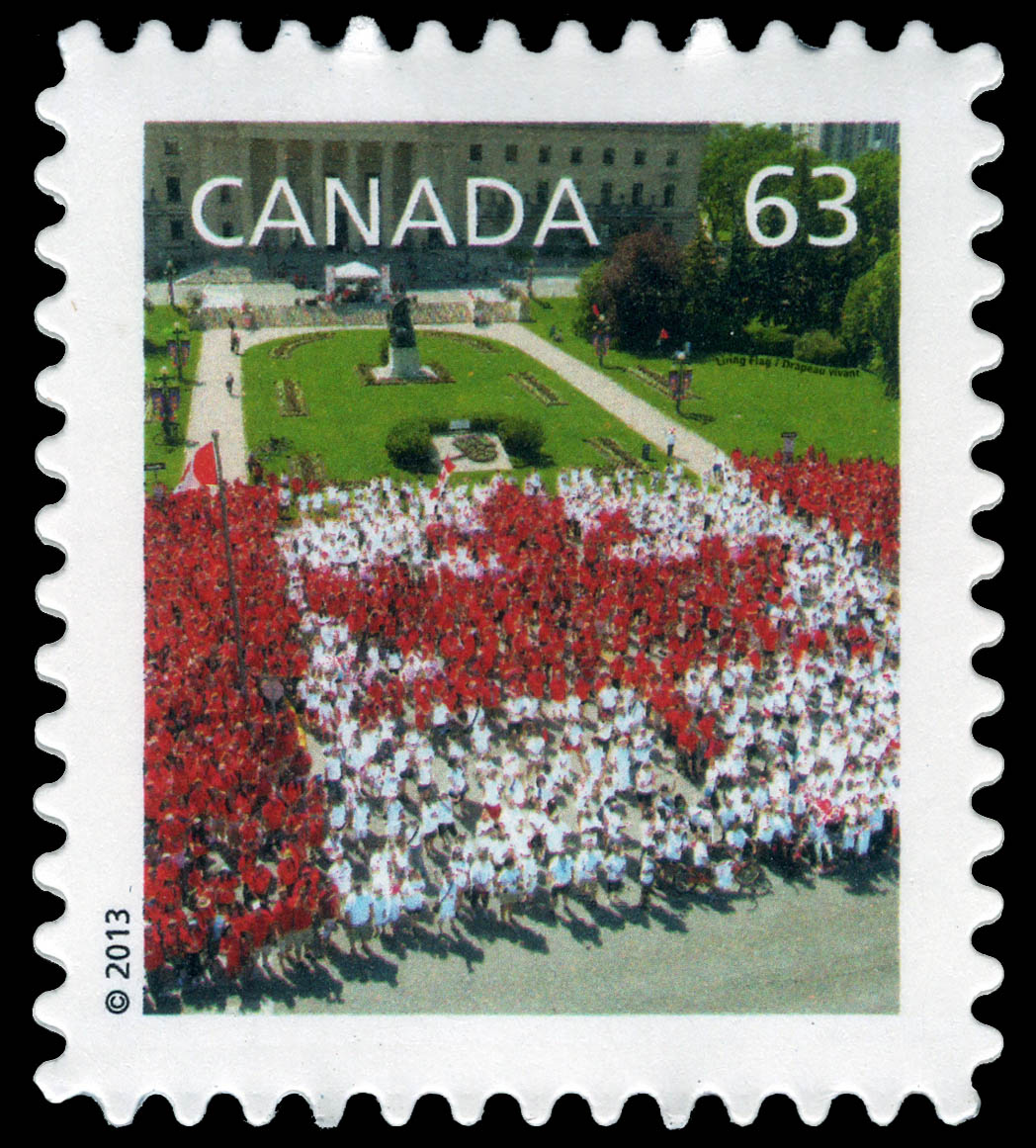 Canada Day Living Flag Canada Postage Stamp