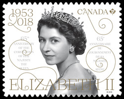 Queen Elizabeth II  - 65th Anniversary of the Coronation Canada Postage Stamp