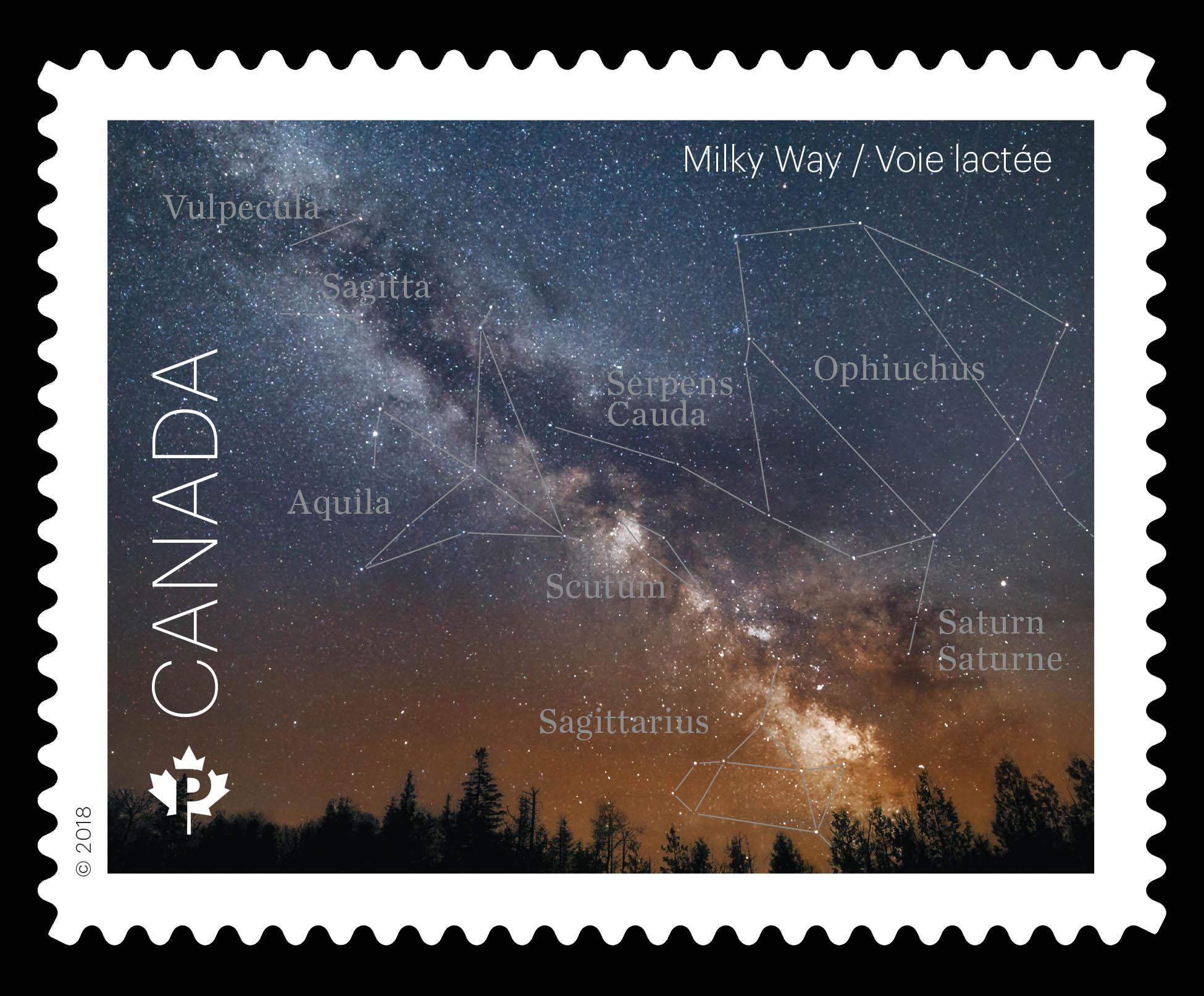 The Milky Way Canada Postage Stamp   Astronomy