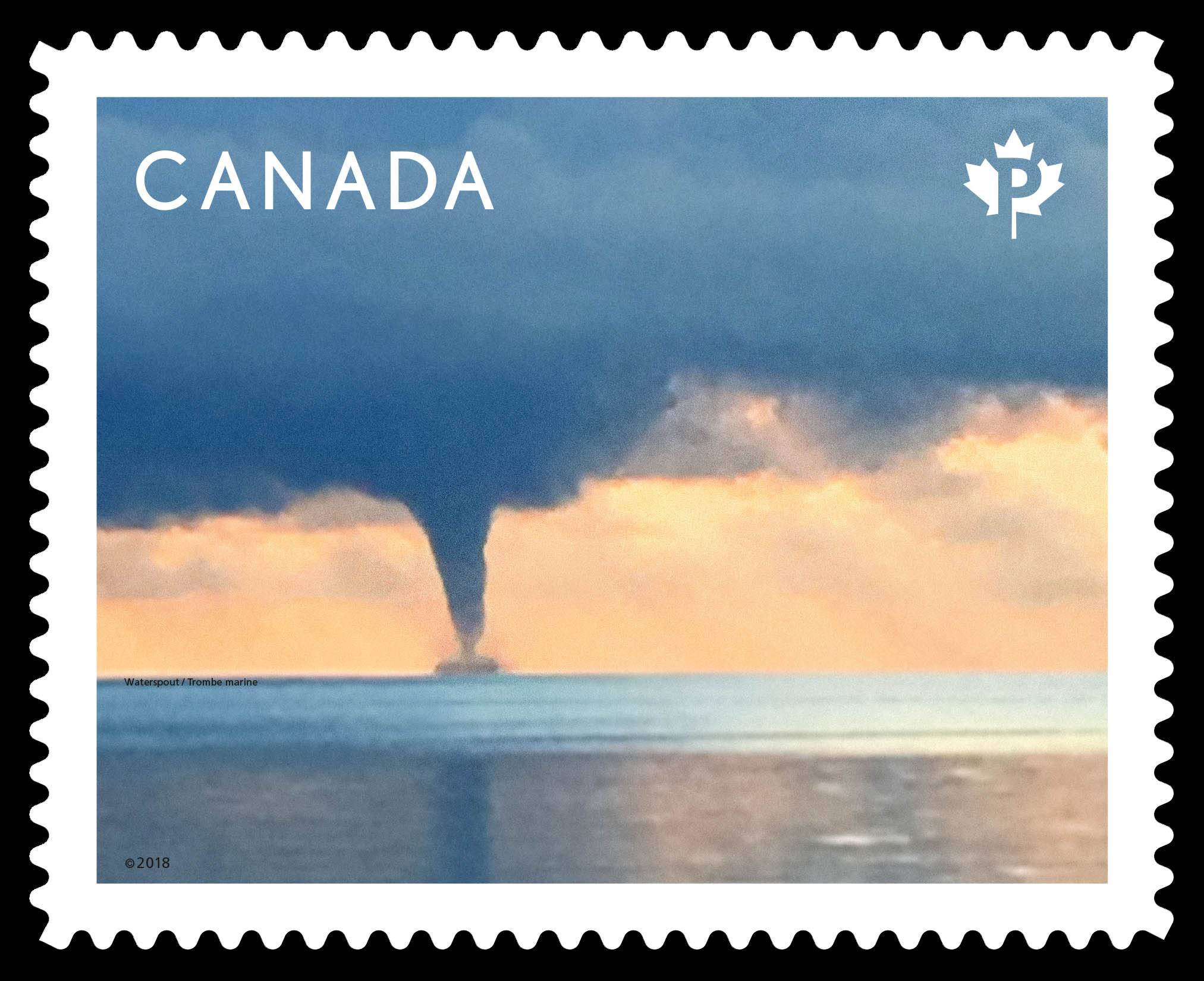 Waterspout Canada Postage Stamp | Weather Wonders