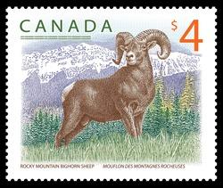 Rocky Mountain Bighorn Sheep Canada Postage Stamp