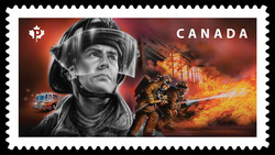 Firefighters Canada Postage Stamp | Emergency Responders
