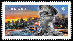 Police Officers Canada Postage Stamp | Emergency Responders