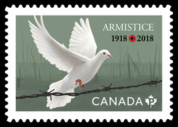 Armistice 100th Anniversary - 1918-2018 Canada Postage Stamp