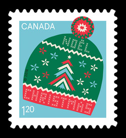 Christmas Toque Canada Postage Stamp | Warm and Cosy - Christmas 2018